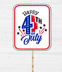 "Табличка для фотосессии ""HAPPY 4TH OF JULY"""