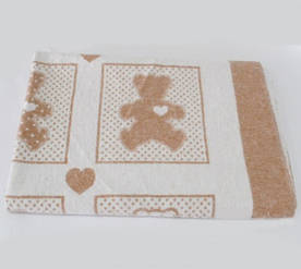 Детское одеяло Vladi жаккардовое хлопок 100x140 бежевое