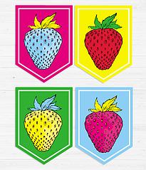 """Гирлянда из флажков """"Strawberries"""""""