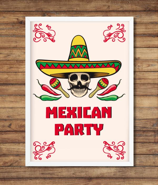 "Постер ""Mexican Party"""