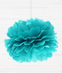 """Бумажные пом-поны """"Tiffany blue"""""""