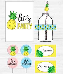 """Набір для декору вечірки """"Pineapple"""""""