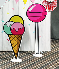 """Фигуры из пластика """"Конфета и мороженое"""" 2 шт. (аренда, Киев)"""