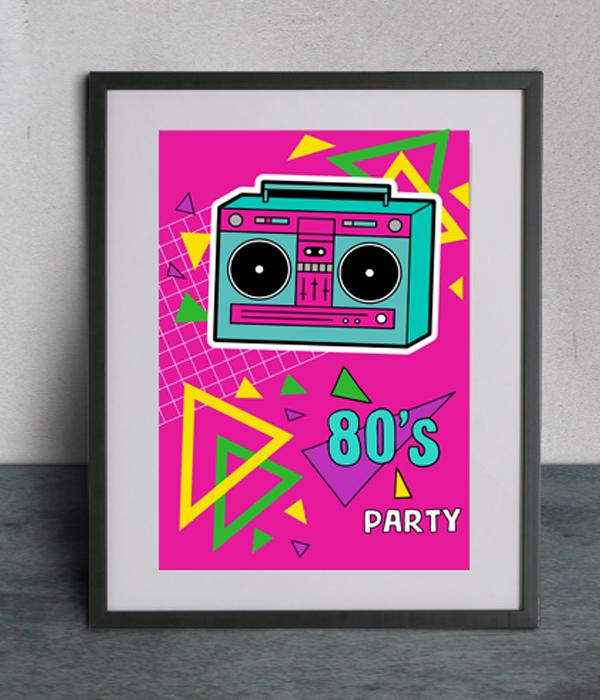"""Постер """"80s party"""""""