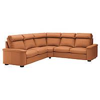 IKEA ЛИДГУЛЬТ Угловой диван 5-местный, Grann/Bomstad золотой/коричневый | 792.574.03