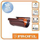 Пластиковая водосточная система PROFIL Соединитель желоба с вкладышем  Ø130 (профил)
