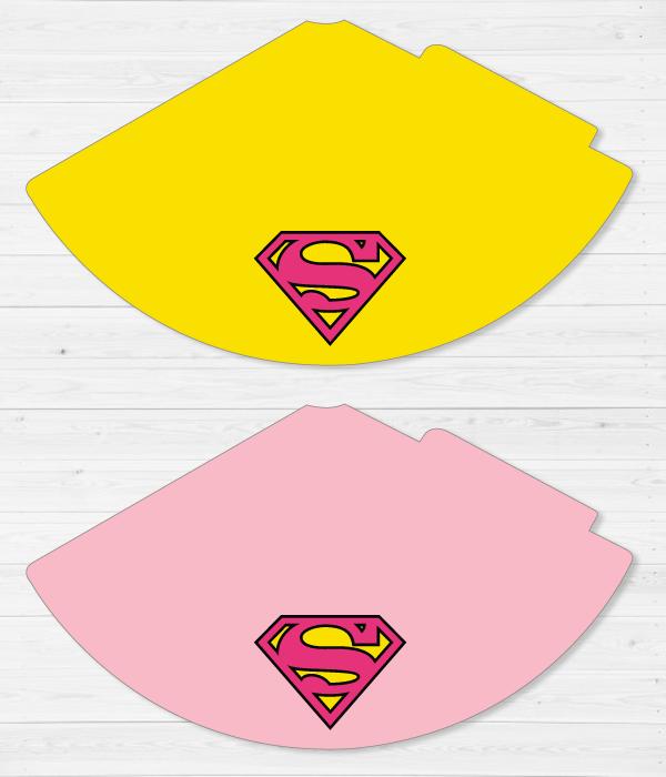 """Колпачки для праздника """"Super Girl"""""""