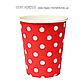 """Паперові стаканчики в горошок """"Red polka dots"""" (10 шт.), фото 2"""