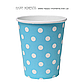 """Паперові стаканчики в горошок """"Blue polka dots"""" (10 шт.), фото 2"""