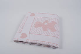 Детское одеяло Vladi жаккардовое хлопок 100x140 розовое