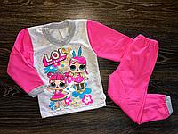 Детская пижама для девочек с куклой Лол.На байке.