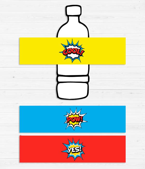 """Наклейки для бутылочек """"Комиксы"""" (10 шт.)"""