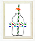 """Набор наклеек на бутылки и трубочек """"Динозавры"""", фото 2"""