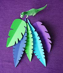 Набор бумажных листьев (5 шт.)