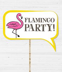 """Табличка для фотосессии """"Flamingo Party!"""""""