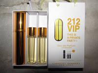 Подарочный набор парфюмерии Carolina Herrera 212 VIP 3х15ml