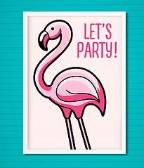 """Постер для праздника """"Фламинго"""""""