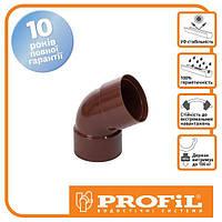 Пластиковая водосточная система PROFIL Колено двухраструбное Ø100 / 60°  (профил)