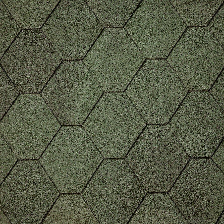 Битумная черепица Superglass Hex (03) Amazon Green,  IKO (айко)