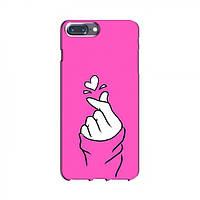 Чехол с принтом для iPhone 7 Plus (AlphaPrint - Знак сердечка) (Айфон )