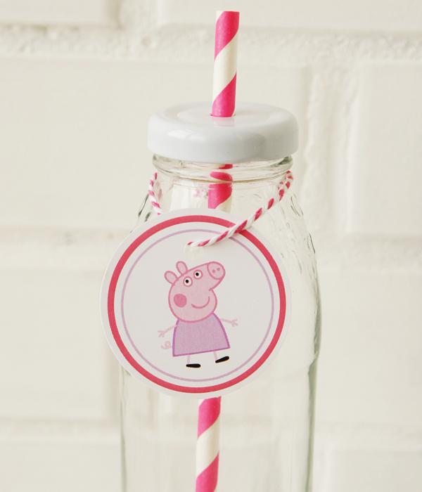 """Медальки для бутылочек """"Свинка Пеппа"""" (10 шт.)"""