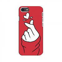 Чехол с принтом для iPhone 8 (AlphaPrint - Знак сердечка) (Айфон )