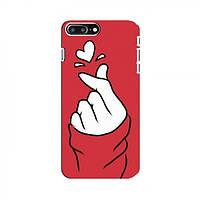 Чехол с принтом для iPhone 8 Plus (AlphaPrint - Знак сердечка) (Айфон )