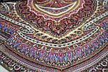 Волшебный узор 1290-2, павлопосадская шаль из уплотненной шерсти с шелковой вязаной бахромой Стандарт, фото 3