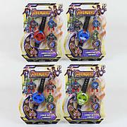 Игровой набор Супер-героев с часами SB802 / детские стреляющие часы-трансформеры 3 героя