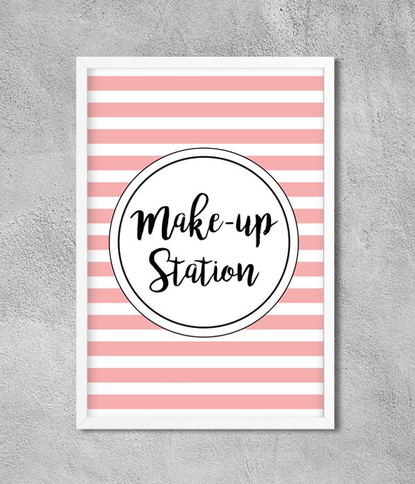 "Постер ""Makeup Station"""
