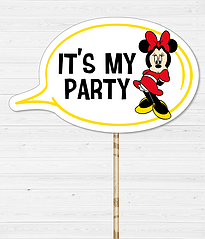 "Табличка для фотосессии ""IT'S MY PARTY"""