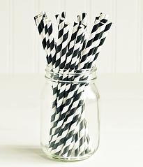 """Бумажные трубочки """"Black white stripes"""" (10 шт.)"""
