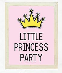 "Постер для праздника ""Little Princess Party"""