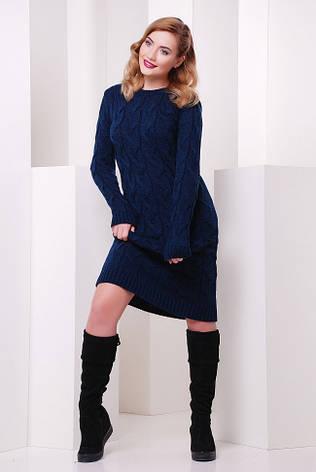 """Зимовий в'язана сукня синє """"LILU"""", фото 2"""