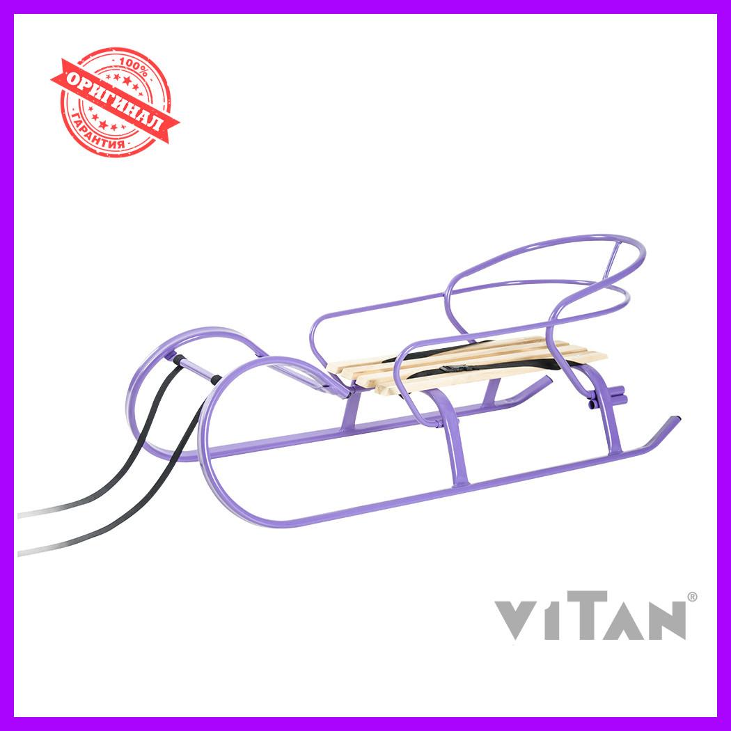 Санки со спинкой Vitan Снегирь фиолетовый