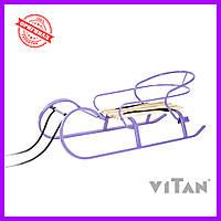 Санки со спинкой Vitan Снегирь фиолетовый, фото 1