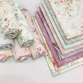 Ткань с цветочными принтами