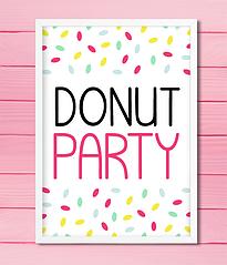 "Постер для праздника ""Donut Party"""