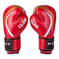 Боксерские перчатки CLUB FGT, Flex красные