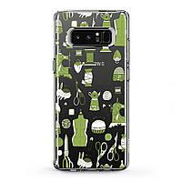 Чехол силиконовый для Samsung Galaxy (Швейная фурнитура) Note 10 Plus 5G/s6 Edge+/s7/s8 Activ/s9/s10e Plus самсунг галакси ноте эйдж плюс silicone