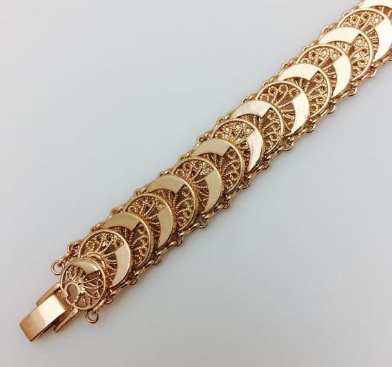Браслет на руку, плетение Монетки  длина 21 см H-1.6 см