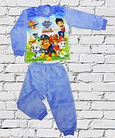 Махровая пижама для мальчиков с патрулем.