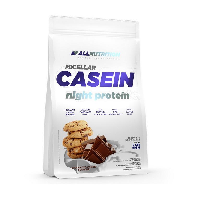 Казеин All Nutrition Micellar Casein Night Protein (908 г) алл нутришн клубника