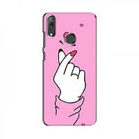 Чохол з принтом для Huawei Y7 2019 (AlphaPrint - Знак сердечка) (Хуавей )