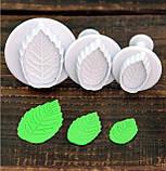 Плунжер Лист Троянди маленький 3 шт (кнопка), фото 7