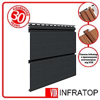 Подшива, Софит - Панель Софит VOX Infratop Графитовая 3 м.