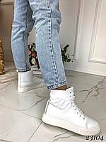 Ботинки Gucci белые змея. Натуральная кожа. Аналог
