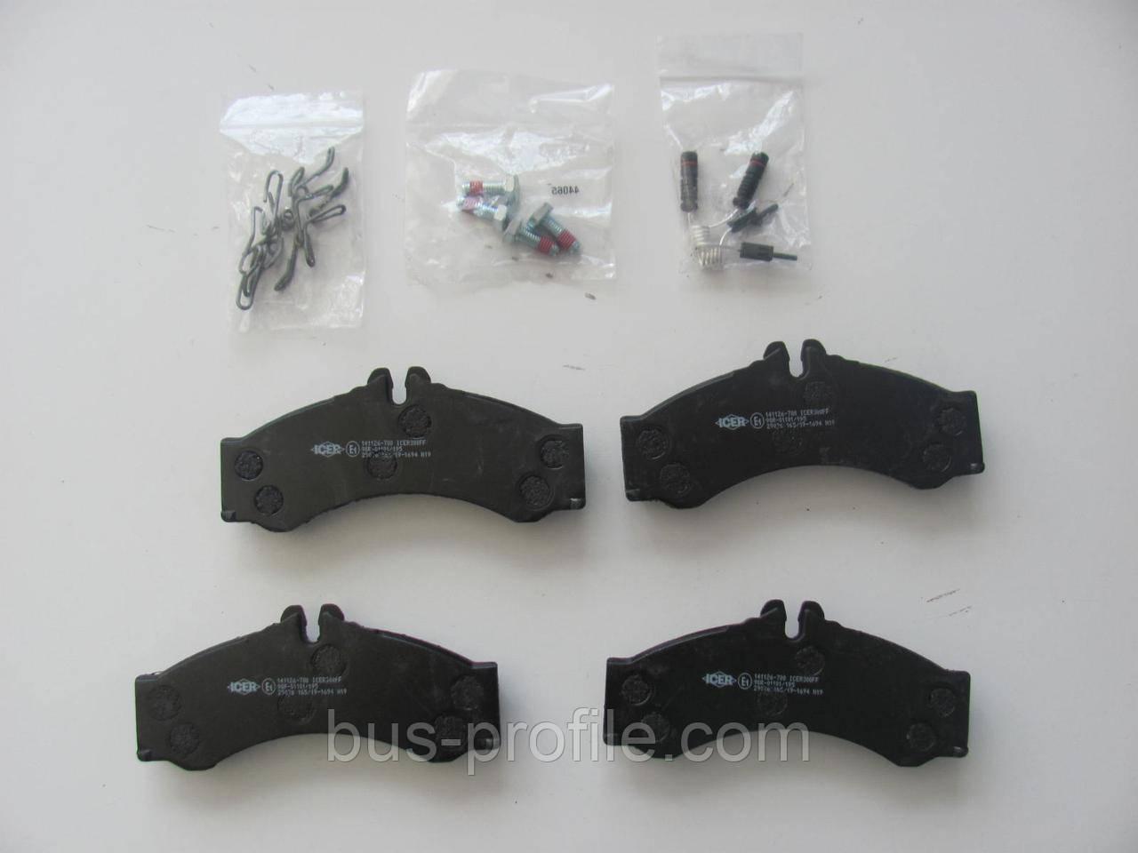Колодки тормозные (передние/задние) MB Sprinter 408-416/VW LT 46 96- (Perrot)/(с датчиками) — ICER — 141126-70