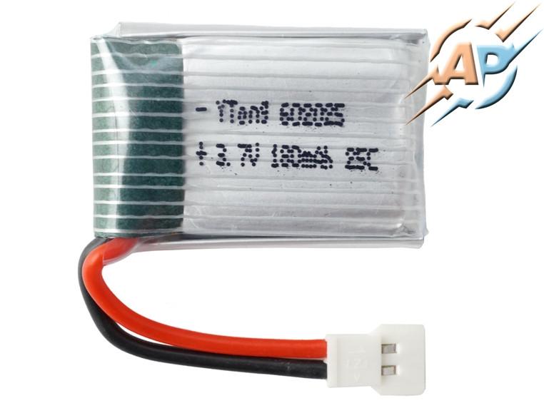 Аккумулятор литий-полимерный 180mAh, 3.7v, 602035, для радиоуправляемых игрушек (квадрокоптеров, дронов)