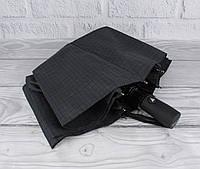 Качественный мужской складной зонт полуавтомат Three Elephants (Три Слона) 34079 с прямой ручкой